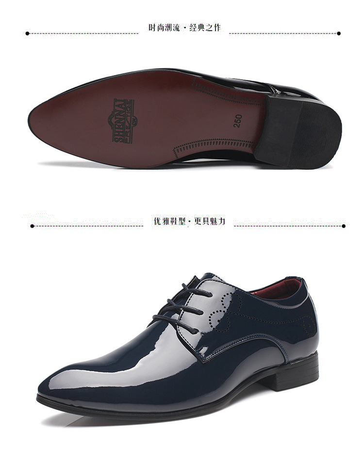 48e2d57ea7f Mens Business Casual Shoes British Style Patent Leather Men Oxford Shoes  Lace Up Pointed Toe Formal Wedding Party Shoes White