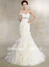 free shipping dress 2013 Crystal Perlen Ribbon Applique Lace Mermaid  rhinestone wedding nach bridal belt