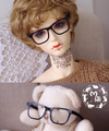 Bjd doll glasses without glasses can't fold