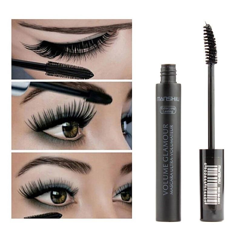 Lash Mascara Eyelash-Extension Cosmetics Silk-Fiber Lengthening Thick Black New for Hot
