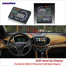 Liandlee Car HUD Head Up Display For Buick Velite 5 Chevrolet Volt Opel Ampera 2015-2018 Safe Driving Screen OBD