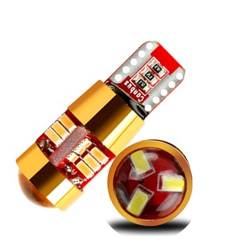 50pcs 7 color car auto LED T10 Canbus W5W 27 SMD 3014 lamp Bulb Clearance Lights LED Voiture Light-emitting Diode Tail Light 12V