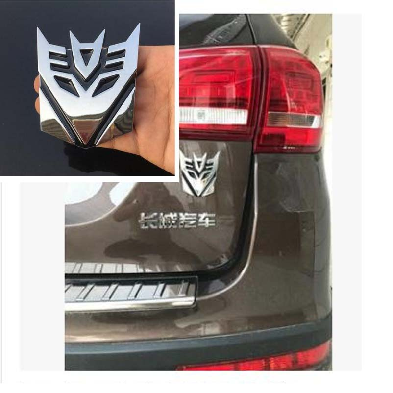 3d Car Sticker  Metal Transformers For Car Auto logo Window Tail Car Body Decoration Car Styling transformers маска bumblebee c1331