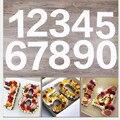 Цифровой Форма для пирога 4 / 6 / 8 /10 дюймов familylove наряд в качестве подарка на день рождения буквы в форме цифр торт тисненый акриловый лазерны...