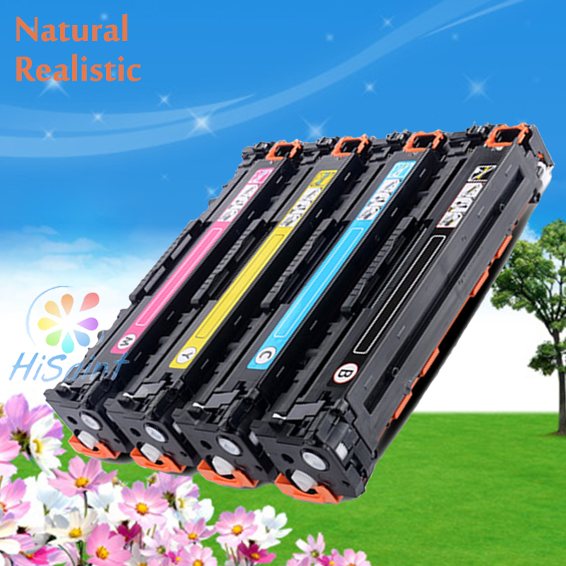 hisaint compatible CB540A CB541A CB542A CB543A Toner Cartridge For HP Color LaserJet CP1215 CP1515n CP1518 CM1312 Laser Printer use for hp 4730 toner cartridge toner cartridge for hp color laserjet 4730 printer use for hp toner q6460a q6461a q6462a q6463a