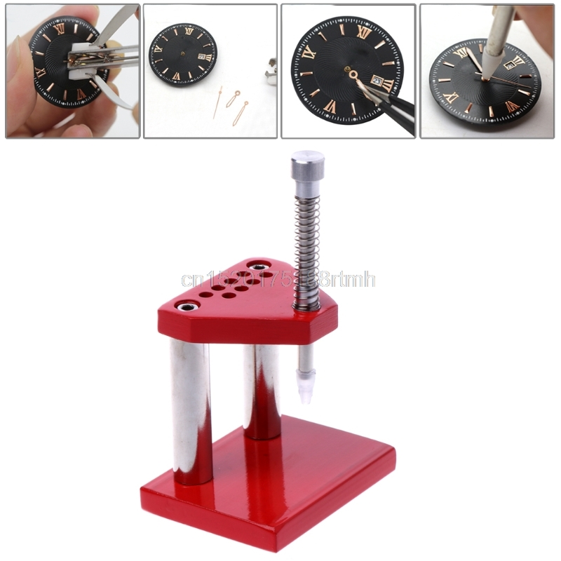 Free delivery Pro Watch Hand Presto Chrono Presser Setting Fitting Watchmaker Repair Tool Kit цена и фото