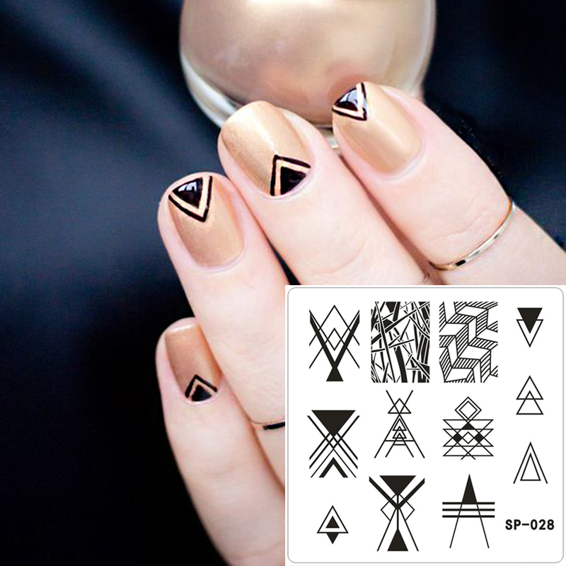 1 Triangle Scarper With Cap Diy Nail Art Stamping Stamp Beauty Manicure Tools Obedient 6cm Nail Art Template Tools 1 Stamper Beauty & Health
