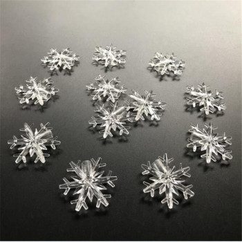 60PCS Snow Flakes  for Led String Fairy Light Xmas Party Home Wedding Garden Garland Christmas Decorations