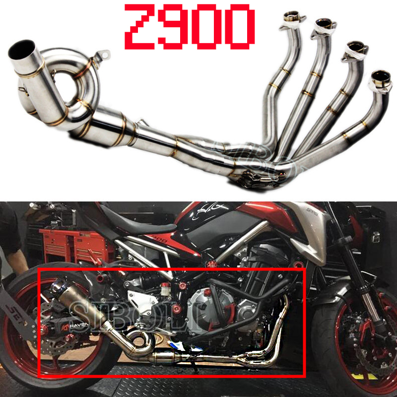 Z900 titanium alloy full system exhaust for kawasaki z900 2017