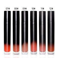 NEW Professional Makeup Velvet Nude Lip gloss Waterproof Liquid Matte Lipstick Long lasting Black Set Korean Cosmetics