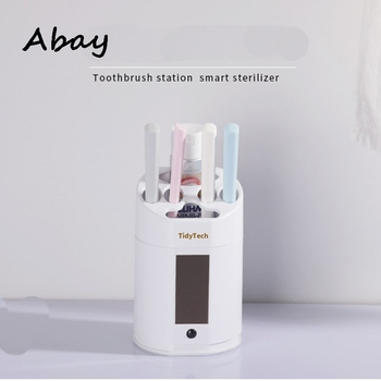 Abay Intelligent Toothbrush Sanitizer UV Light Disinfection Toothbrush Rack Rechargeable Solar Power Automatic Toothbrush Holder