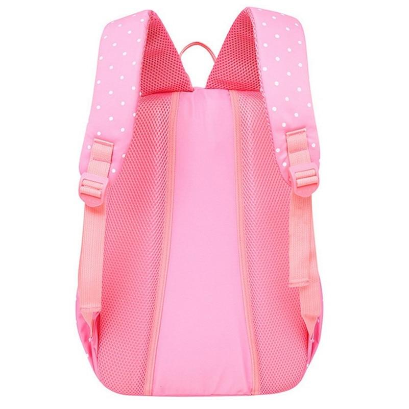 3 Pieces Lightweight Students School Backpack Set Nylon Dot School Bag For Girls Bookbags