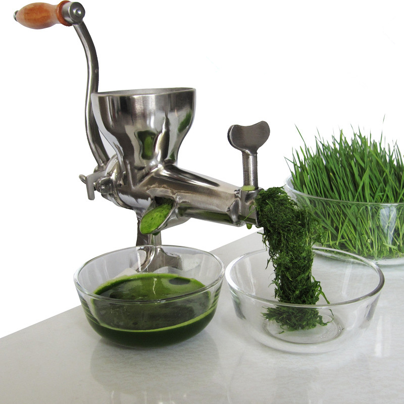 Stainless steel manual wheatgrass Juicer squeezer fruits extractor hand juicer