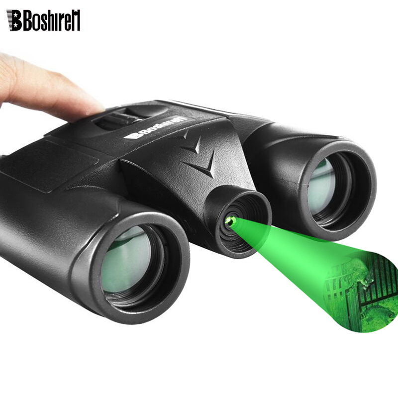 10x25 Night Vision Binoculars Built-in Green Laser Light No Infrared Professional Bak4 Roof Prism Telescope For Camping Hunt цена и фото