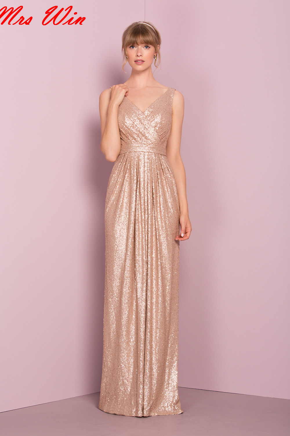 Compare prices on gold bridesmaid dresses long online shopping 2107 formal gold sequins long bridesmaid dresses country style for wedding v neck straps sheath women ombrellifo Image collections