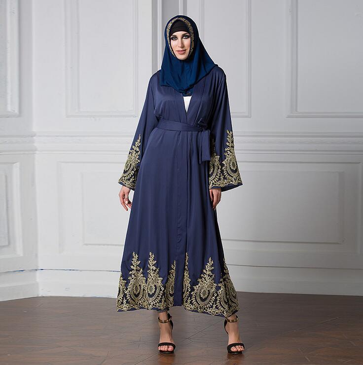 Новые модные женские длинные Ислам мусульманская одежда платье с длинным рукавом Свободные Винтаж Костюмы Ислам IC Абаи плюс Размеры 5XL с ре...