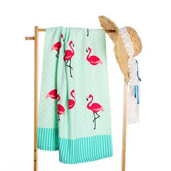LOVINSUNSHINE Fashion śliczne w stylu flaminga lato ręcznik plażowy ręcznik kąpielowy ręcznik z mikrofibry plaża AB #150 tanie i dobre opinie 100 poliester Quick-dry Można prać w pralce Drukowane Zwykły Dzianiny Plac 11 s-15 s Geometryczne hzwan 250g white blue red black