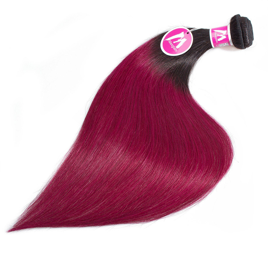 Human Hair Weaves Smart Wome Pre-colored Red Hair Bundles Vietnamese Straight Hair 99j Burgundy Non-remy Hair Weave Extension 3 Red Hair Bundles