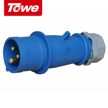 цена на Towe Industrial Connector IPS-P316  16A  3 Cores  2P+E  Male   IP44