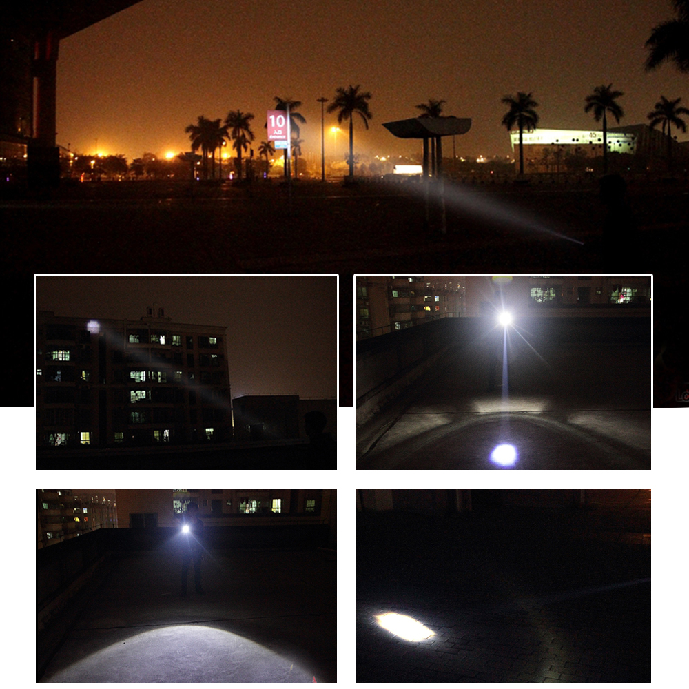 Waterproof Bicycle Front LED Light with ZOOM and flashlight 6