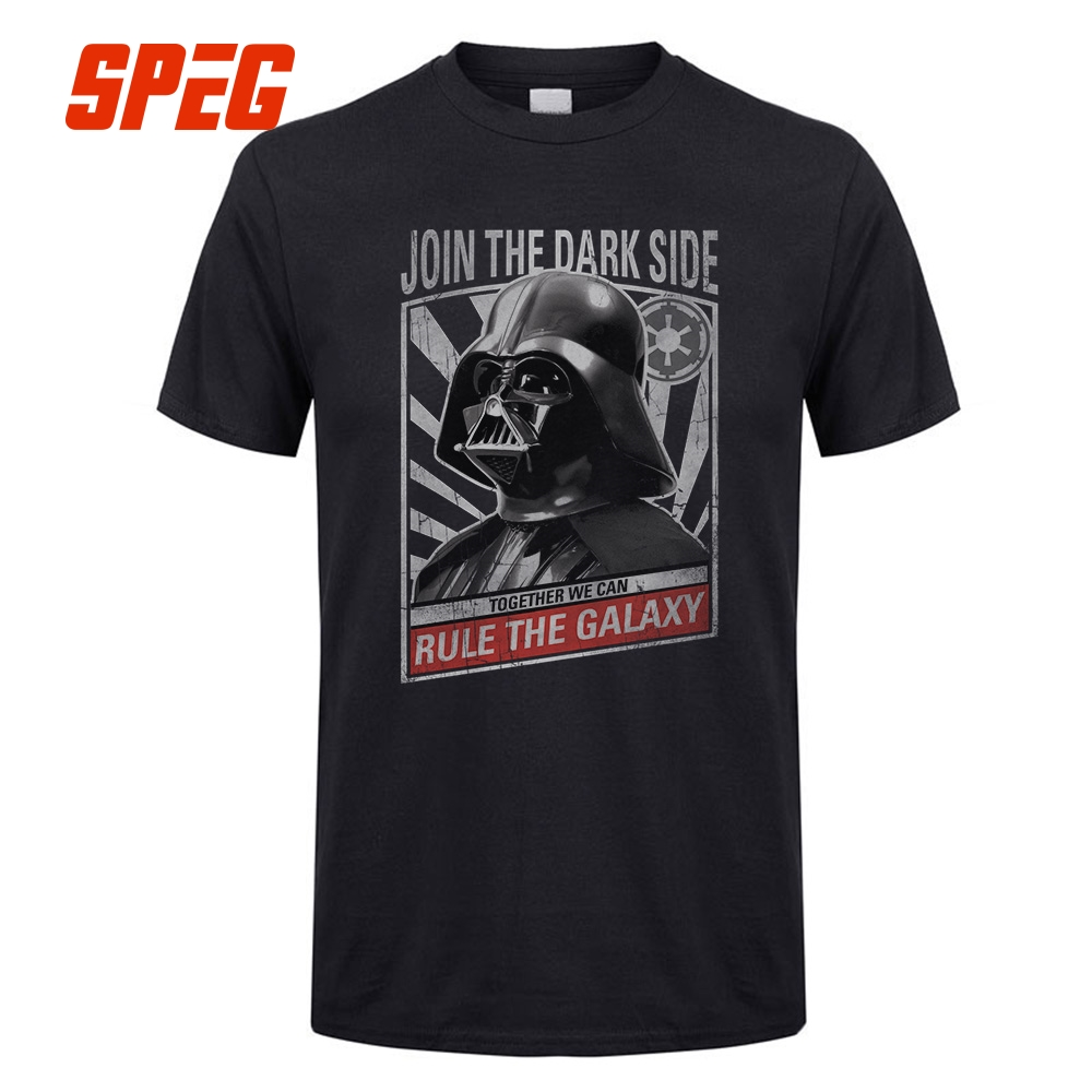 COol T Shirts Vader Propaganda Star Wars Men Starwars 100% Cotton Short Sleeves Crew Collor T-Shirts Designing Youth Tee Shirt