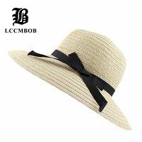 2015 Hot Fashion Women S Foldable Wide Large Brim Floppy Summer Beach Sun Straw Hat Cap