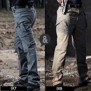 Image 5 - חדש גברים של למתוח טקטי מכנסיים מרובה כיס צבאי כותנה עירוני Combat מכנסיים גברים Slim עבודת מטענים צפצף 3XL BFIX79