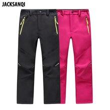 JACKSANQI pantalons de randonnée pour enfants, tissu molletonné, imperméable, hiver, pour Camping, Trekking, ski, RA094
