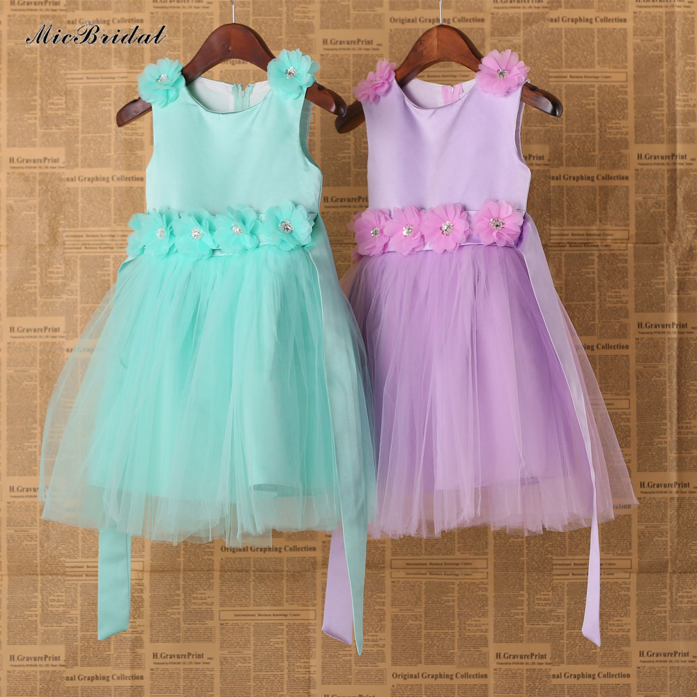 Mint Green And Lilac Couture Wedding Flower Tutu Dress Baby Dancing Birthday Kids Real Photo Rqf192 In From Weddings Events