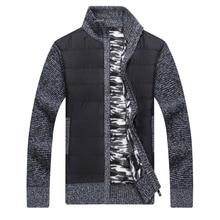 ICPANS Sweater Cardigan Men Cotton Cashmere Zip Red Black Men Winter Sweaters With Zipper Male Thick Warm Plus Size XXXL 4XL