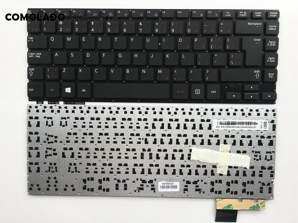 CF Canada-French <font><b>keyboard</b></font> for <font><b>Samsung</b></font> <font><b>NP530U4E</b></font> NP540U4E 530U4E Black <font><b>Keyboard</b></font> CF Layout image