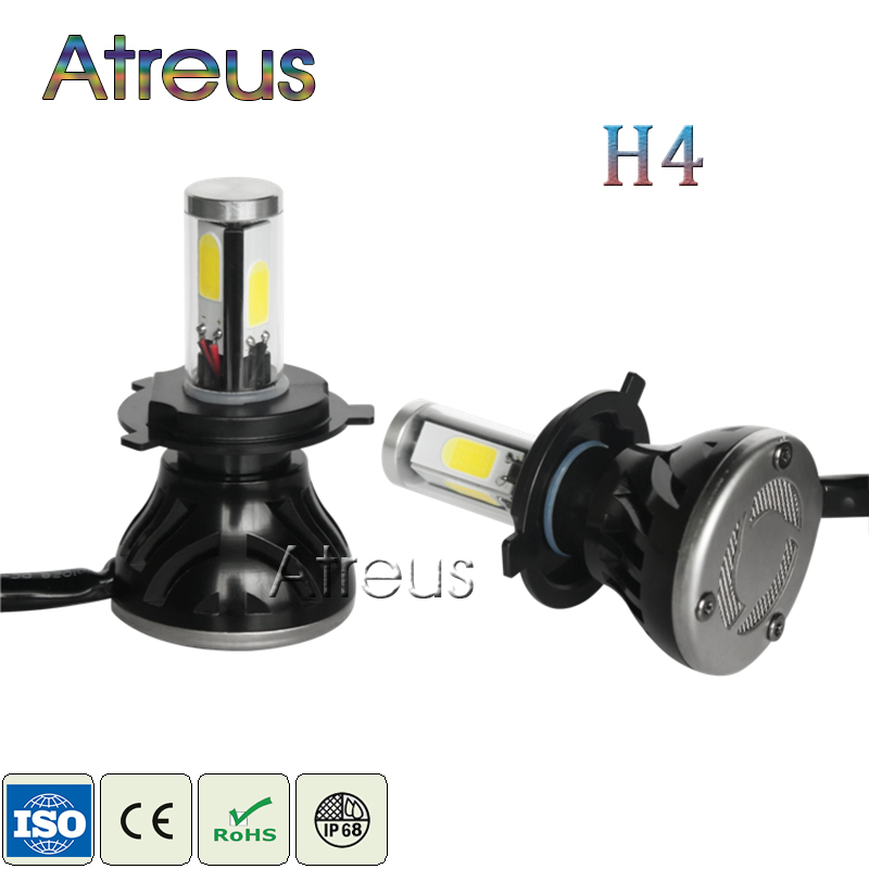 ФОТО 2pcs New LED H4 High/Low Headlights 40W*2 4000LM*2 COB Auto Light 1set Hot sale Car Styling G5 For Cars Headlamp Light Bulbs Kit