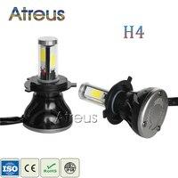 2pcs New LED H4 High Low Headlights 40W 2 4000LM 2 COB Auto Light 1set Hot