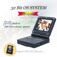WOLSEN High Quality Retro Mini Game Station 32 Bit 268 classic game Handheld Game Console Download More Game For GB / NES