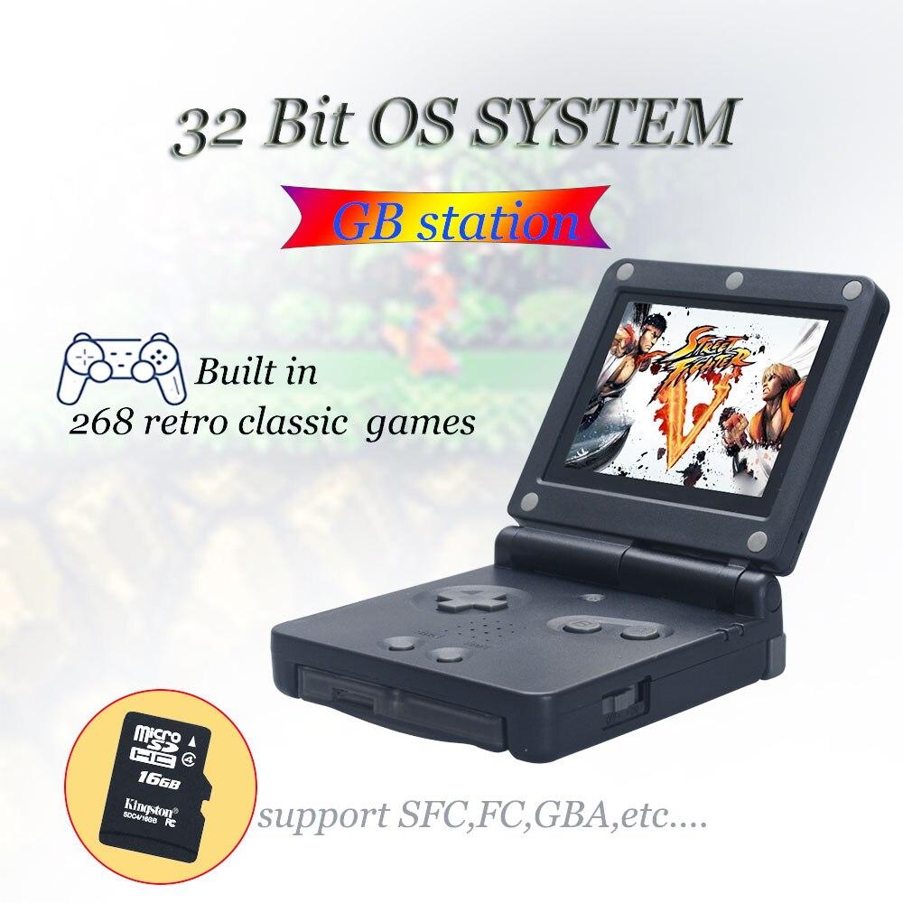 WOLSEN Hohe Qualität Retro Mini Spiel Station 32 Bit 268 klassische spiel Handheld Spielkonsole Download Mehr Spiel Für GB /NES