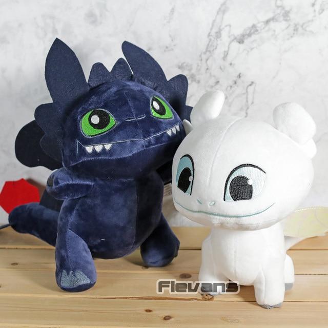 Como Treinar O Seu Dragão 3 Fúria Da Noite/Luz Fúria Desdentado Kawaii Brinquedos de Pelúcia Macia Stuffed Dolls