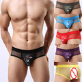 3 Pack Sexy Men's Soft Cartoon & Mesh  Briefs Underwear Comfy Bulge Pouch Briefs