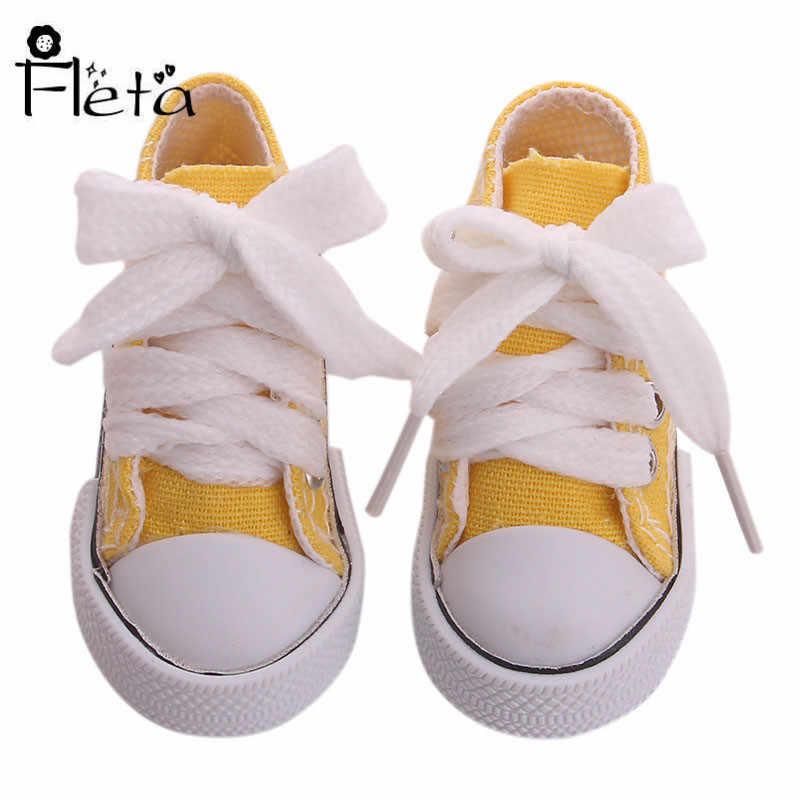 Giày Búp Bê 7.5 Cm 8 Màu Thời Trang Giày Sang Trọng Đồ Chơi Búp Bê Quần Áo Phụ Kiện Thế Hệ Chúng Ta Giáng Sinh Sinh Nhật Bé Gái quà Tặng