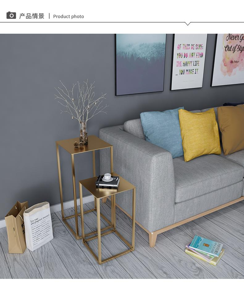 US $142.49 5% OFF|Nordic style small coffee table simple mini modern living  room sofa corner creative American metal side table-in Coffee Tables from  ...