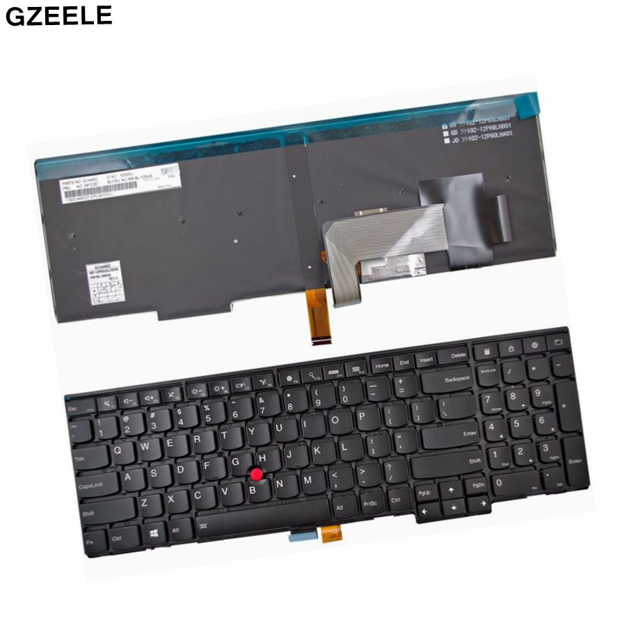 new for Lenovo for Thinkpad T540P W540 E540 E531 backlit laptop keyboard US image