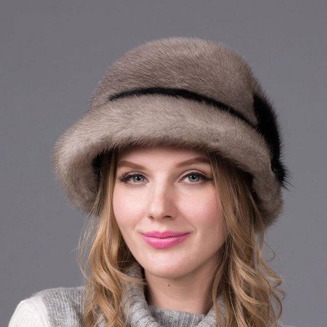 Genuine Mink Fur Hat Winter...
