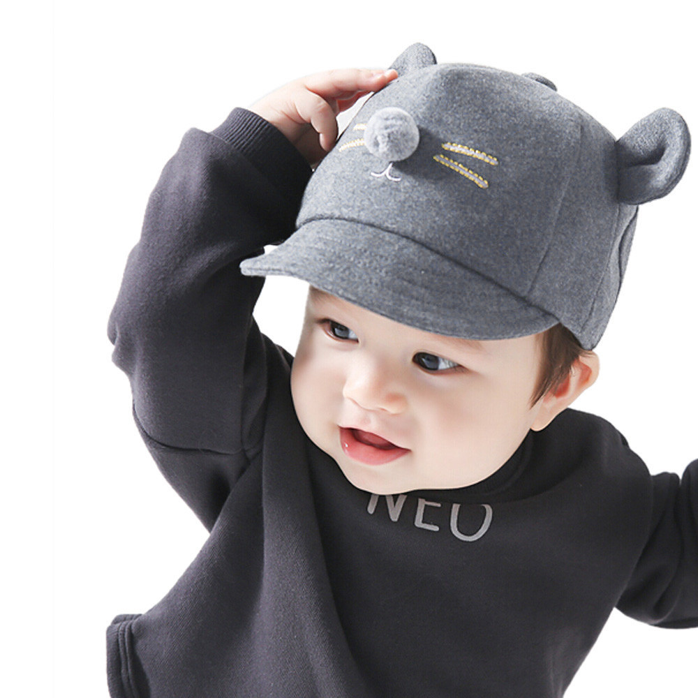 6cb1042c52f Detail Feedback Questions about 1 2Yrs Visor Baseball Cap Baby Hats For Boys  Girls Cute Ear Peaked Hats Children Snapback With Funny Spring Summer  Autumn ...