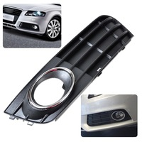 CITALL 8K0807681A01C New ABS Plastic Front Left Bumper Fog Light Lamp Cover Grille For Audi A4 B8 2008 2009 2010 2011 2012