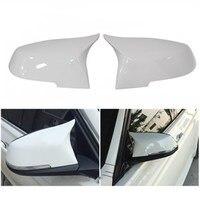 modify to M3 white mirror covers for BMW 1/2/3/4 Series X1 GT F20 F22F30 320Li 328 330i 2013 2016 exterior accessories