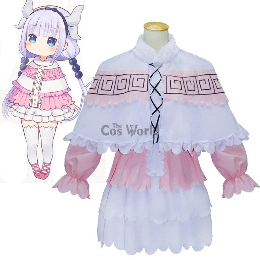 Slečna Kobayashi je drak panna Kamui Kanna košile šaty jednotné anime outfit Cosplay kostýmy