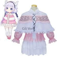 Miss Kobayashi's Dragon Maid Kamui Kanna Shirt Dress Uniform Anime Outfit Cosplay Costumes