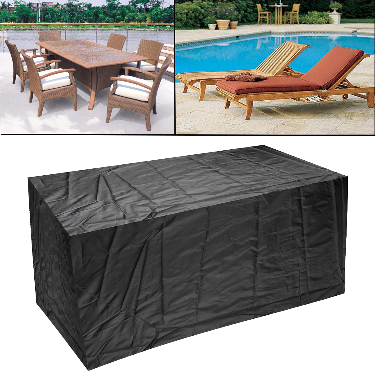 4 Size Beach Outdoor Waterproof Garden Furniture Cover Protector Table Set  Chair Sofa Covers Tighten Patio Anti Dust Protection-in All-Purpose Covers  from ... - 4 Size Beach Outdoor Waterproof Garden Furniture Cover Protector