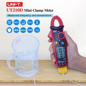 UNI T ut210d braçadeira medidor rms verdadeiro multímetro digital ac dc voltímetro amperímetro resistência capacitância frequência temperatura tester|Multímetros| |  -