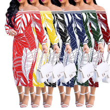 2018Hot summer autumn New Fashion Design African Traditional Clothing Print Dashiki Beautiful Neck Dresses for Wome
