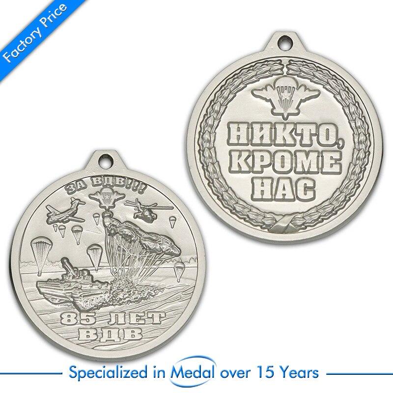 Custom Sport Medal low price custom antique silver medals  factory 3D metal